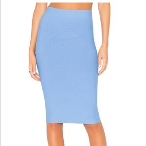 Bailey 44 light blue pencil skirt